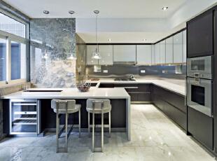,211平,25万,现代,四居,厨房,黑白,