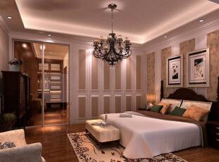 卧室设计: 经典的欧式风格卧室影藏的是浓郁的民族风味和悠远的年代气息,富有欧式风情的装修让你体会异国风情的生活,现在的欧式设计有了新的变化,设计现代化,摒弃了一些古典的东西,让卧室变得更加时尚,符合现代年轻人的省美观。,125平,17万,欧式,三居,