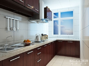 本案客厅设计出超大的视觉平面空间,客厅以白色为基调,运用特殊的暗纹肌理,赋予精致的细部,强调其内敛简约之设计感。,89平,6万,现代,两居,