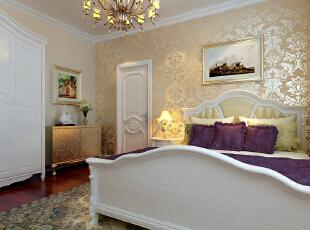 首创伊林郡80简欧两居式-卧室,80平,7万,欧式,两居,卧室,现代,简约,白色,黄色,