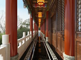 典型的中式元素同整体氛围相一致,局部采用了古朴的中式花格,1500平,450万,中式,公装,