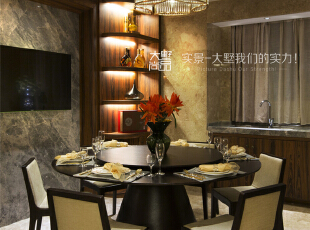 便于一家人回家热热闹闹的吃饭和聊天。,260平,60万,现代,复式,餐厅,中式,黄色,