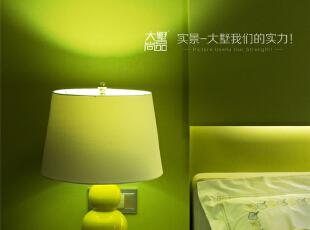小女儿房床头灯饰~,260平,60万,现代,复式,儿童房,绿色,中式,