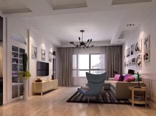 活跃的色彩,几何的抱枕让寂静的环境增添一丝丝活跃,120平,20万,小资,三居,客厅,宜家,春色,