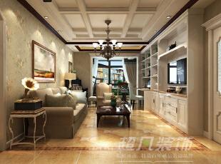 利用墙面空间做收纳,即使小户型空间也可以整洁温馨,从桌面延伸出去的一个小小吧台,在主人劳累使成为其休息瞭望的一个好去处。,89平,10万,美式,两居,客厅,阳台,