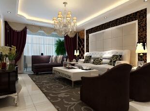 客厅大气、简约、沉稳,没有艳丽的色彩,没有过多累赘复杂的造型,给人以心灵的平静,体现了主人的内蕴品性。白色沙发搭配尤为重要,稳重又不失简约。,122平,10万,欧式,三居,