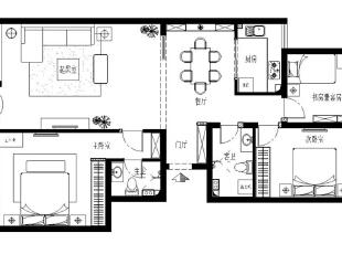,120平,17万,中式,三居,玄关,客厅,餐厅,卧室,厨房,书房,儿童房,卫生间,阳台,