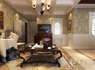 法式风格客厅充满了浪漫氛围,整个空间给人高贵典雅,讲求心灵的自然回归感,给人一种扑面而来的浓郁气息。,90平,12万,混搭,两居,客厅,