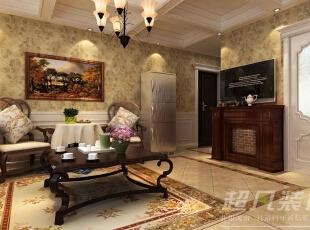 软装配饰上使用白色,浅黄色,暗褐色为基调,糅合少量的酒红色,使色彩看起来明亮,大方,整体空间给人以开放,宽容的非凡气度。,90平,12万,混搭,两居,客厅,