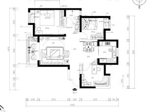 设计师把书房的门改道餐厅对面的那边墙上,在原门处设计师做成了一个入户柜子,下面鞋柜,上面储物收纳。,110平,10万,中式,三居,