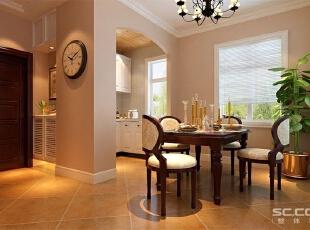 简约大方的整体布局,简单的石膏线勾勒与地面家具协调统一。,120平,9万,现代,两居,餐厅,黄色,