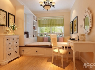 卧室是一个安静的空间,整体色调跳动性不能剧烈,温馨的暖色调,使主人休憩更舒适。,120平,9万,现代,两居,卧室,黄色,