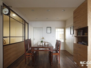 ,125平,17万,现代,两居,餐厅,原木色,