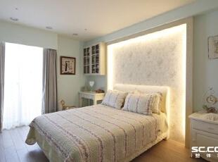 ,125平,17万,现代,两居,卧室,蓝色,白色,