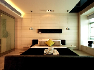 客房 清新,淡雅 设计理念:客房床头背景同样运用  了乳白色软包让客人睡在这里似乎自己住进了五星级酒店一样。,280平,70万,现代,别墅,卧室,黑白,