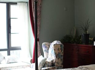 一杯清茶 一本闲书 一段午后,卧室,现代美式,成都设计,四居,80后,绿色,