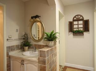,卫生间,现代美式,成都设计,四居,80后,白色,