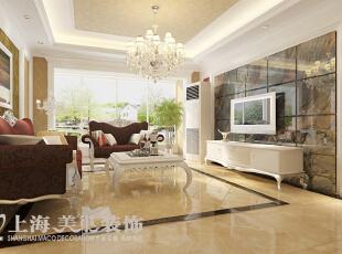 雅居乐国际花园135平方四室两厅客厅装修效果图---电视背景墙,135平,8万,现代,一居,客厅,黄色,