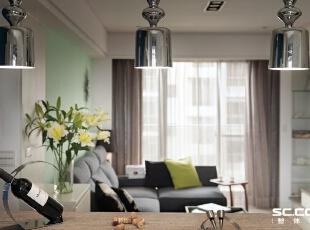 ,93平,13万,现代,三居,客厅,白色,绿色,