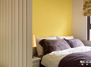 ,93平,13万,现代,三居,卧室,白色,黄色,