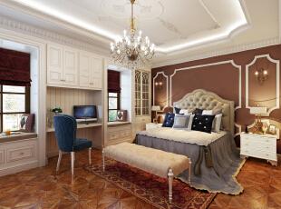 主卧,400平,25万,小资,别墅,卧室,红色,蓝色,欧式,