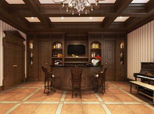 地下,400平,25万,小资,别墅,吧台,原木色,