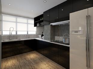 ,120平,35万,现代,两居,厨房,黑白,