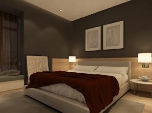 ,120平,35万,现代,两居,卧室,黑白,