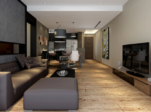 ,120平,35万,现代,两居,客厅,黑白,