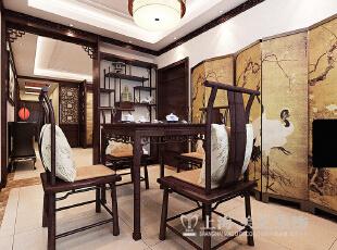 绿城百合180四室两厅新中式风格装修效果图---餐厅装修效果图,180平,20万,中式,四居,