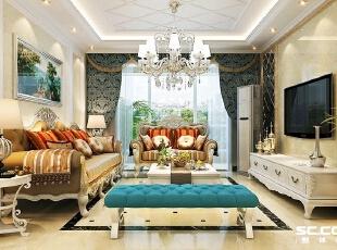 在注重装饰效果的同时,用现代的手法和材质还原古典气质,新古典具备了古典  与现代的双重审美效果,完美的结合也让人们在享受物质文明的同时得到了精神  上的慰藉。,118平,15万,新古典,三居,客厅,