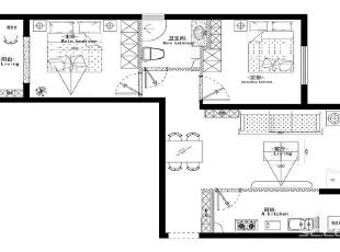 金城时代广场户型图,87平,6万,现代,两居,