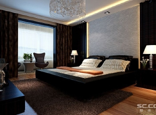 主卧散发着舒适宜居的味道。天花没有多余的设计,依靠自然光线和床头灯满足照明的需求;墙纸颜色淡雅,花纹简单,不浓烈不张扬,恰到好处;厚实稳重,为主人提供更好的睡眠。,87平,6万,现代,两居,