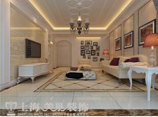 贰号城邦140平三室两厅简欧风格装修效果图-客厅效果图,140平,10万,欧式,三居,客厅,