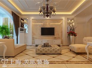 郑州贰号城邦140平三室两厅简欧风格装修效果图-电视墙效果图,140平,10万,欧式,三居,客厅,