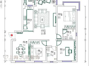 贰号城邦140平三室两厅简欧风格装修样板间-平面设计方案,140平,10万,欧式,三居,