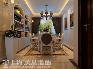 贰号城邦140平3室2厅简欧风格装修效果图-餐厅效果图,140平,10万,欧式,三居,餐厅,