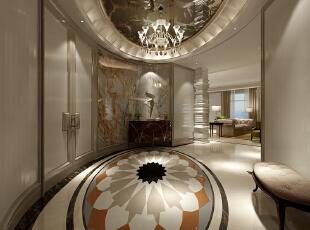 一条走廊,体现出设计师绝妙地创意,200平,30万,欧式,大户型,