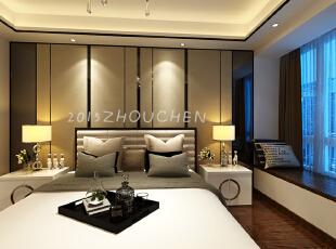 ,100平,8万,小资,三居,新古典,现代,卧室,白色,原木色,黑白,
