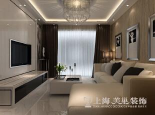 阳光城89平两2室2厅现代简约风格装修效果图--客厅,89平,6万,现代,两居,