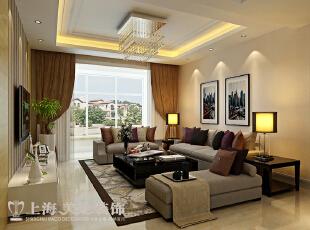 鑫苑世纪东城113平3室2厅装修样板间——客厅装修效果图,113平,7万,现代,三居,客厅,