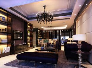 【实创整体家装】现代风格客厅效果图,120平,13万,现代,三居,客厅,简约,黑白,