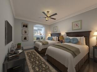 ,14平,25万,混搭,三居,卧室,美式,原木色,白色,