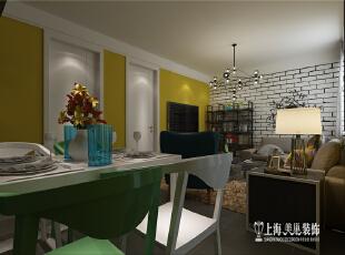 南阳路公安局家属院70平方两室一厅新古典风格装修案例--客餐厅装修效果图,70平,5万,新古典,两居,餐厅,客厅,黄色,