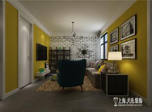 郑州公安局家属院70平方2室1厅新古典风格旧房翻新装修方案--客厅装修效果图,70平,5万,新古典,两居,蓝色,客厅,