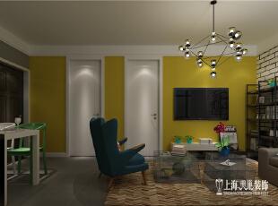5万翻新70平方新古典风格小二居--客厅正面,70平,5万,新古典,两居,黄色,客厅,
