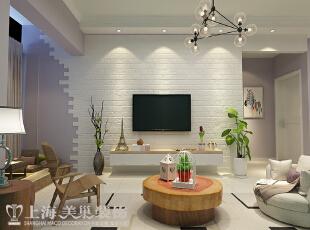 郑州国龙绿城怡园88平两室两厅简约风格装修案例——电视背景墙装修效果图,88平,6万,现代,两居,客厅,