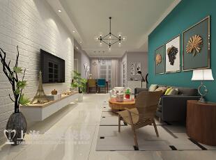 国龙绿城怡园88平2室2厅简约风格装修样板间——客厅装修效果图,88平,6万,现代,两居,客厅,