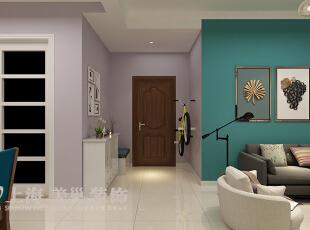国龙绿城怡园88平两室两厅简约风格装修方案——门厅装修效果图,88平,6万,现代,两居,客厅,