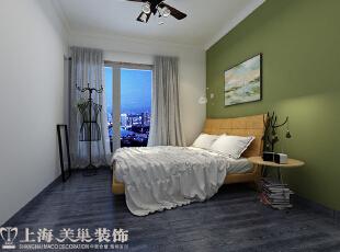国龙绿城怡园88平两室两厅简约风格装修效果图——卧室装修效果图,88平,6万,现代,两居,卧室,